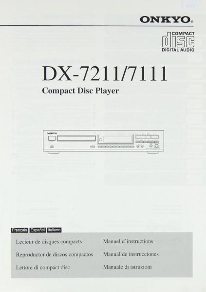 Onkyo DX-7211 / 7111 Bedienungsanleitung