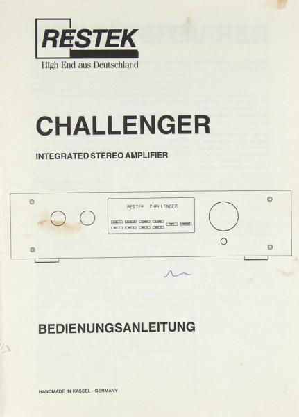 Restek Challenger Bedienungsanleitung