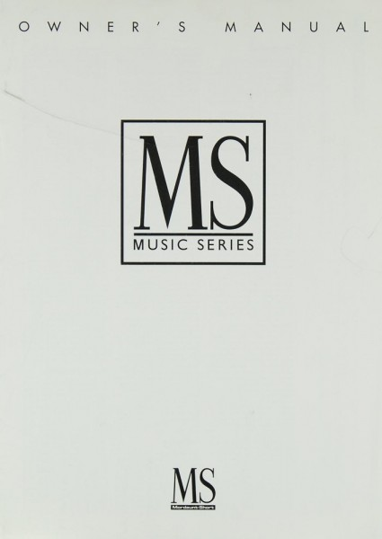 Mordaunt-Short Music Series Bedienungsanleitung