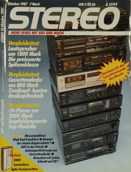 Stereo 10/1987 Zeitschrift