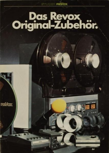 Revox Das Revox Original Zubehör Prospekt / Katalog