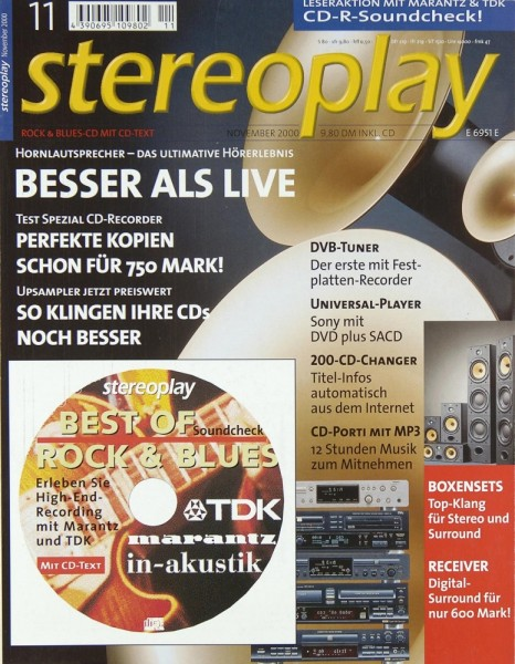 Stereoplay 11/2000 Zeitschrift
