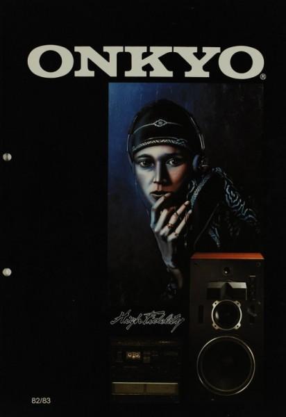 Onkyo Produktübersicht 82/83 Prospekt / Katalog