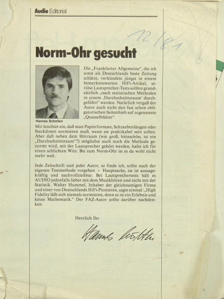 Audio 12/1981 Zeitschrift