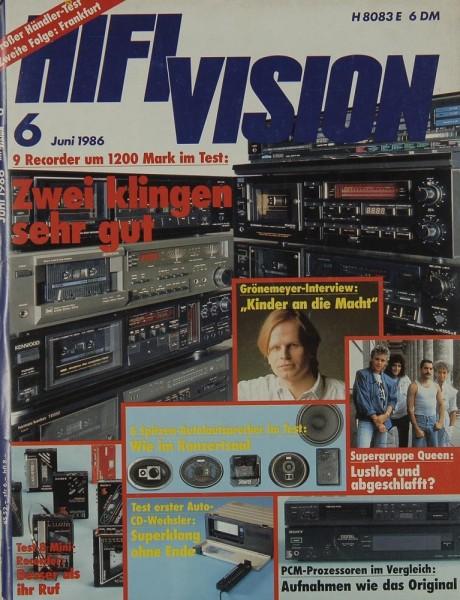 Hifi Vision 6/1986 Zeitschrift