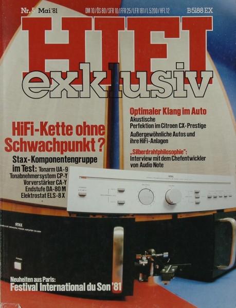 Hifi Exklusiv 5/1981 Zeitschrift
