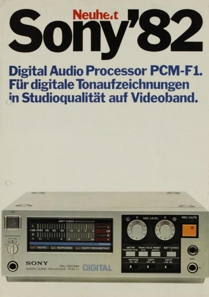 Sony Sony´82 - PCM-F 1 Prospekt / Katalog