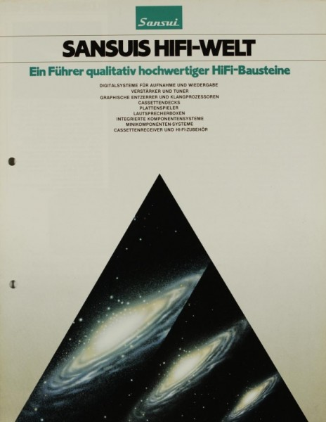 Sansui Sansuis HiFi-Welt Prospekt / Katalog