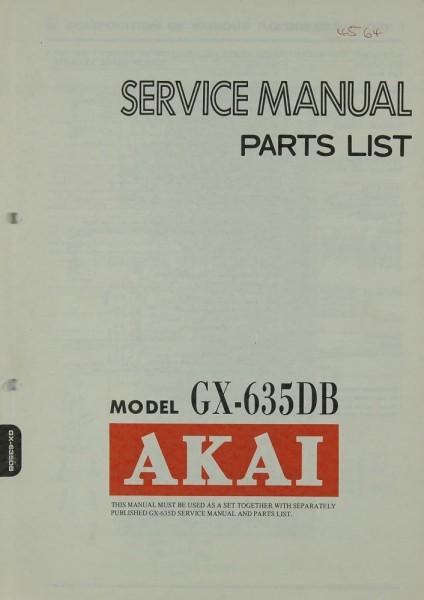 Akai GX-635 DB Schaltplan / Serviceunterlagen