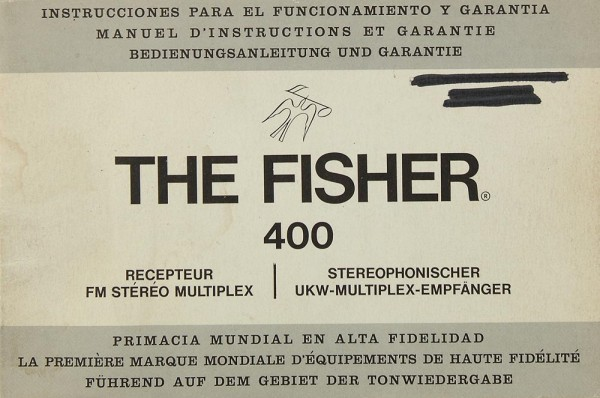 Fisher, The 400 Bedienungsanleitung