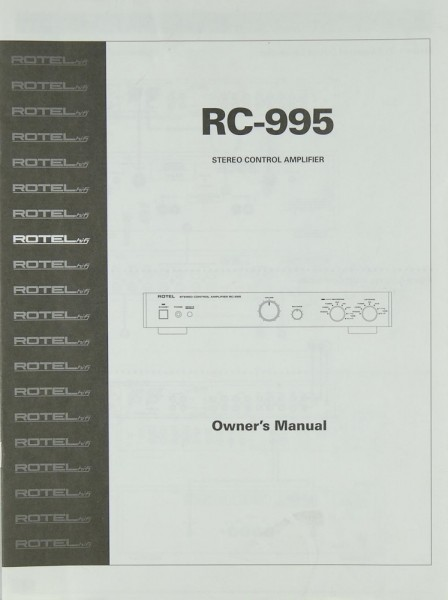 Rotel RC-995 Bedienungsanleitung