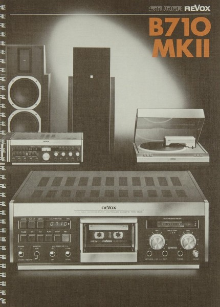 Revox B 710 MK II Bedienungsanleitung