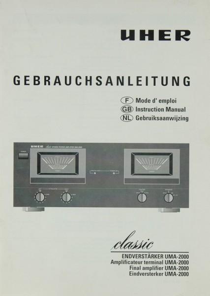 Uher UMA-2000 Bedienungsanleitung