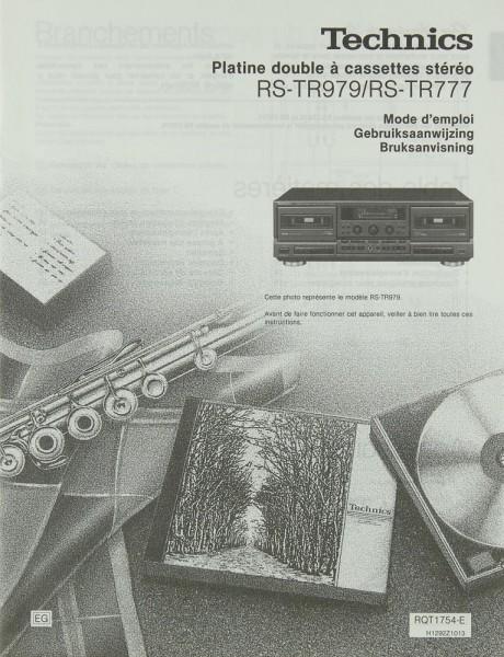 Technics RS-TR 979 / RS-TR 777 Bedienungsanleitung