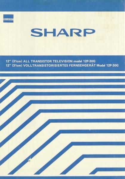 Sharp 12-P 30 G Bedienungsanleitung