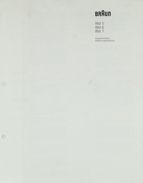 Braun RM 5 / 6 / 7 Bedienungsanleitung