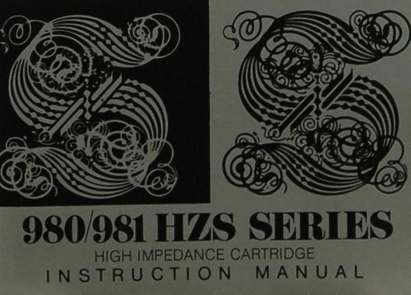 Stanton 980/981 HZS Series Bedienungsanleitung