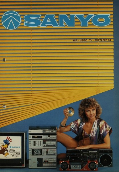 Sanyo HiFi. Video. TV. Portable. ´84 Prospekt / Katalog