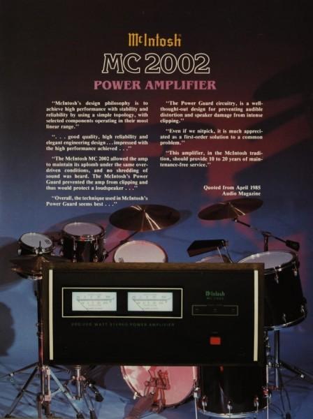 McIntosh MC 2002 Prospekt / Katalog