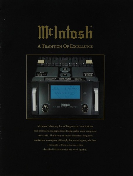 McIntosh A Tradition of Excellence Prospekt / Katalog