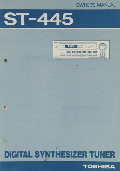 Toshiba ST-445 Bedienungsanleitung