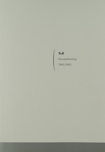 T + A Gesamtkatalog 2001/2002 Prospekt / Katalog