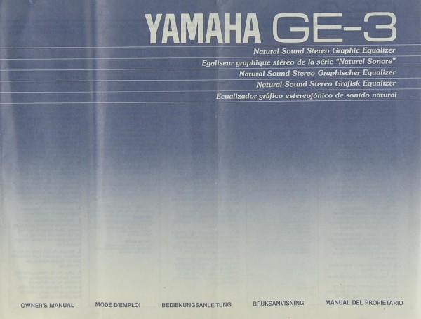 Yamaha GE-3 Bedienungsanleitung