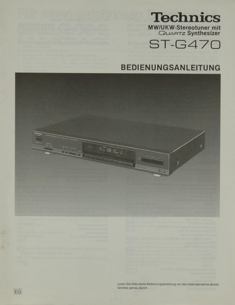 Technics ST-G 470 Bedienungsanleitung