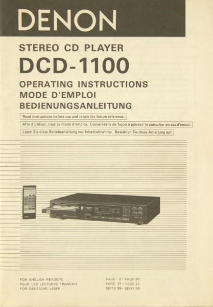 Denon DCD-1100 Bedienungsanleitung
