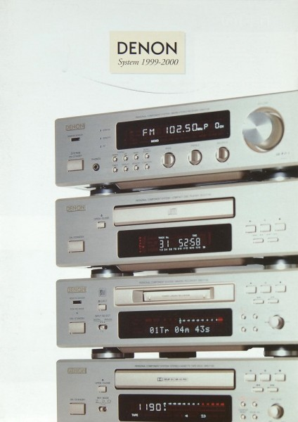 Denon System 1999-2000 Prospekt / Katalog