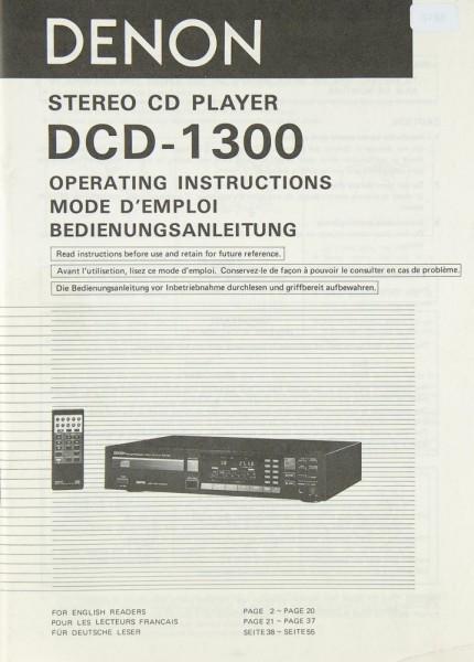 Denon DCD-1300 Bedienungsanleitung