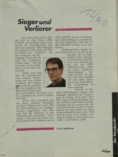 Hifi Vision 12/1990 Zeitschrift