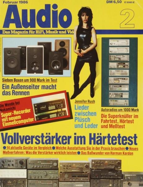 Audio 2/1986 Zeitschrift