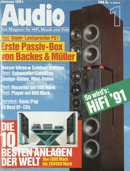 Audio 1/1991 Zeitschrift