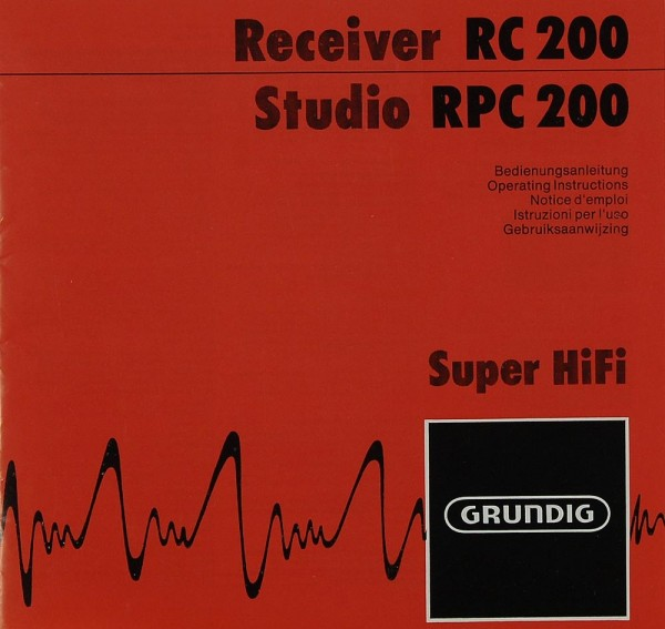 Grundig RC 200 / RPC 200 Bedienungsanleitung