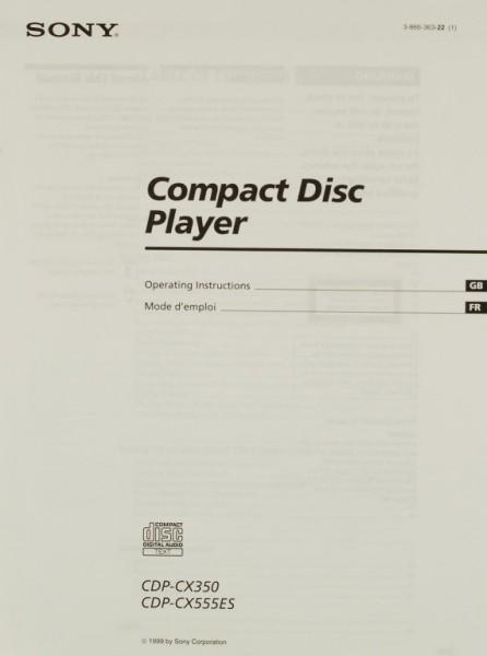 Sony CDP-CX 350 / CDP-CX 555 ES Bedienungsanleitung