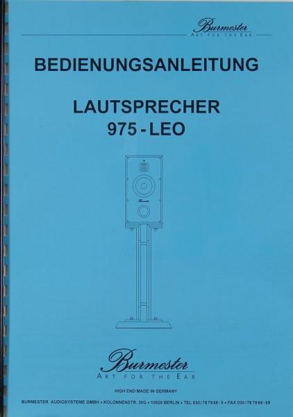 Burmester 975-LEO Bedienungsanleitung