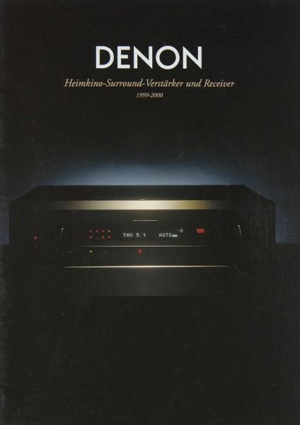 Denon Gesamtkatalog 1999-2000 Prospekt / Katalog