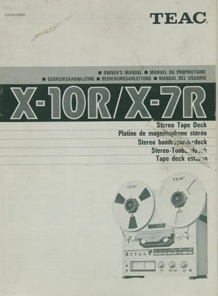 Teac X-10 R / X-7 R Bedienungsanleitung