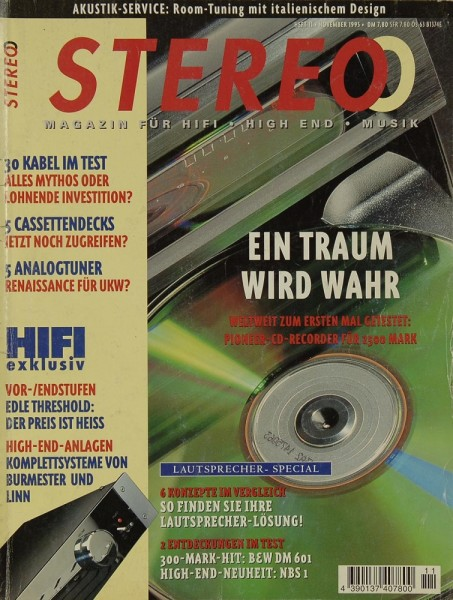 Stereo 11/1995 Zeitschrift