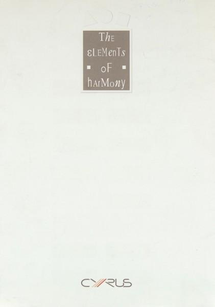 Mission / Cyrus The Elenemts of Harmony Prospekt / Katalog