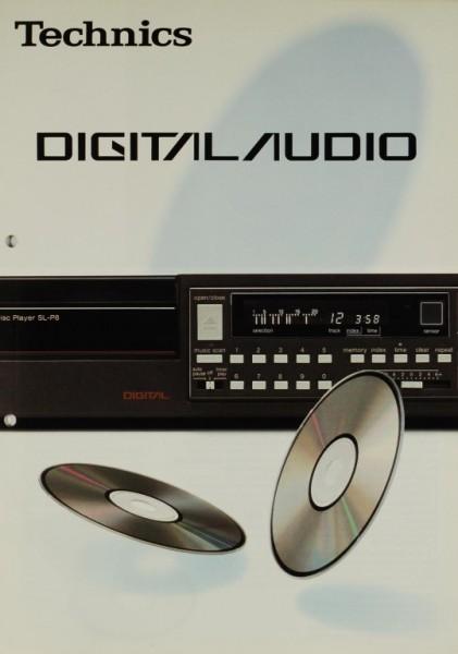 Technics Digital Audio Prospekt / Katalog
