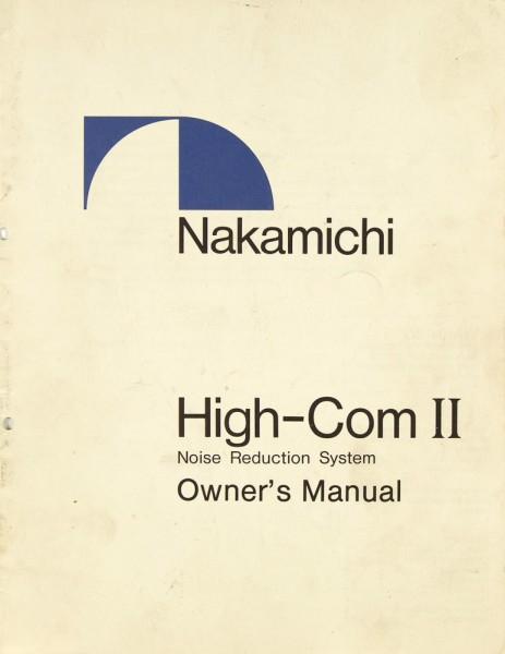 Nakamichi High-Com II Bedienungsanleitung