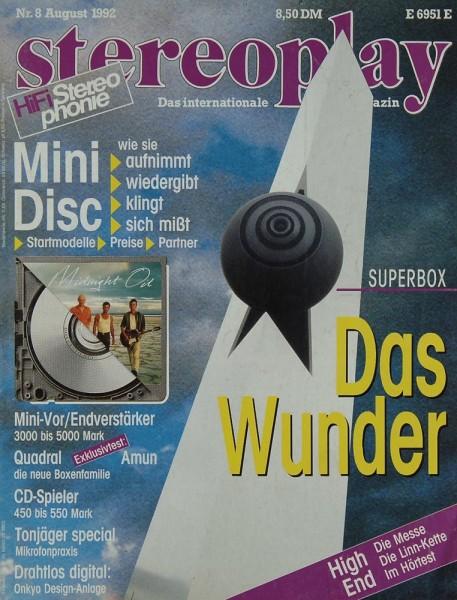 Stereoplay 8/1992 Zeitschrift