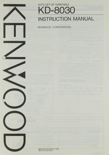 Kenwood KD-8030 Bedienungsanleitung