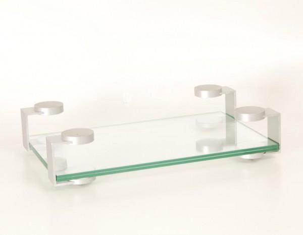 Audiolabor Glas Aluminium Rack Display silbern