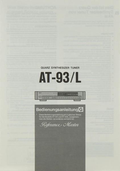 Akai AT-93 / L Bedienungsanleitung