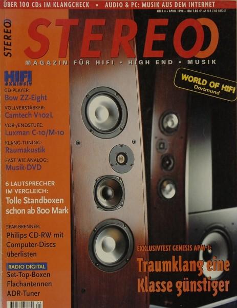 Stereo 4/1998 Zeitschrift