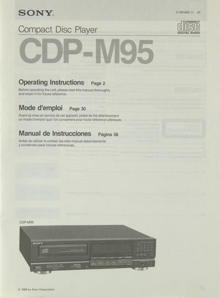 Sony CDP-M 95 Bedienungsanleitung