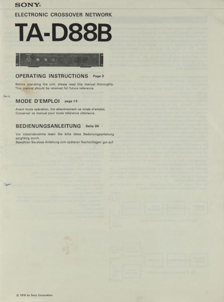 Sony TA-D 88 B Bedienungsanleitung